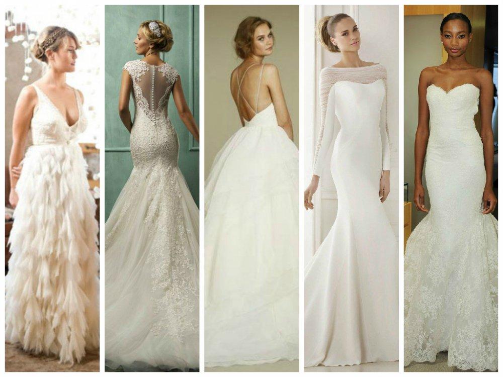 Différentes robes de mariées
