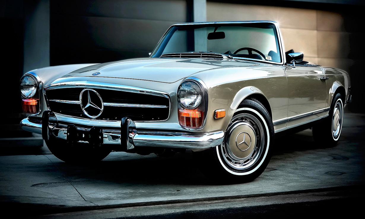 La mercedes 230 sl une voiture de sport de prestige for Mercedes benz 230sl